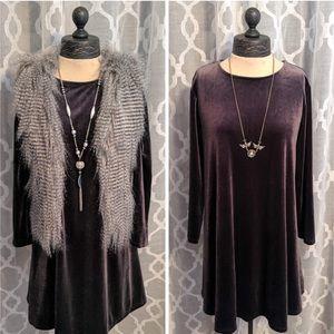 🆕 OLD NAVY | Charcoal Gray Velvet Dress Petite